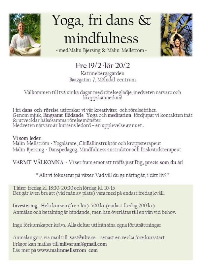 Yoga, fri dans & mindfulness gröngrön 14dec
